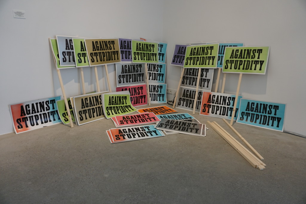 "Daniel Joseph Martinez, ""Against Stupidity, part of Wasteland at Thaddeus Ropac"